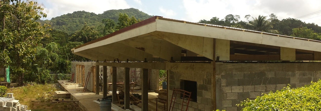 Forestry interpretation centre being rebuilt, Union, St Lucia 2018. Photo: IWEco